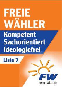 Wahlplakat Liste 7_freie_waehler_buerstadt