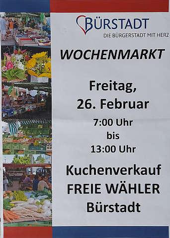 Kuchenverkauf der FREIE WÄHLER Bürstadt