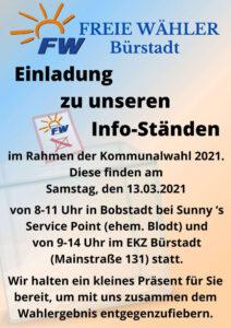 Bild Einladung zu unserem Info-Stand-